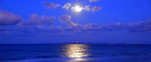 May Full Moon Over Bay