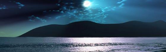 Full Moon Tranquility Beach 2014 Moonrise_