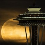 Space Needle and the Lunar Eclipse