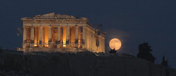 Acropolis Full Moon Rising. Steven Shroyer's Full Moon Astrology Journal Article.