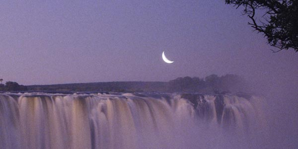 New Aries Moon over Victoria Falls