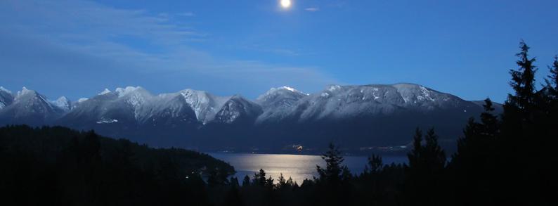 Solstice Mountain Moon 2015