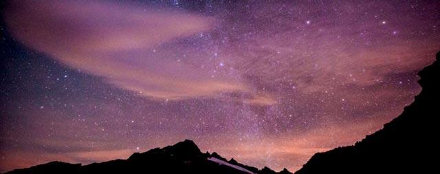 Purple Mountain New Moon Photo