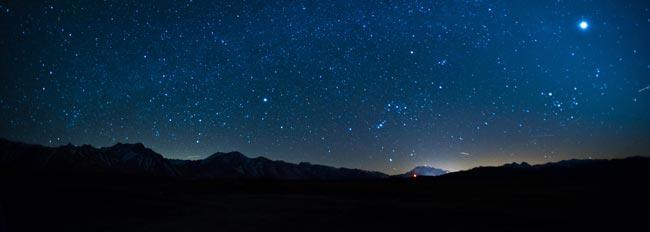 Night Sky with New Moon in Virgo.