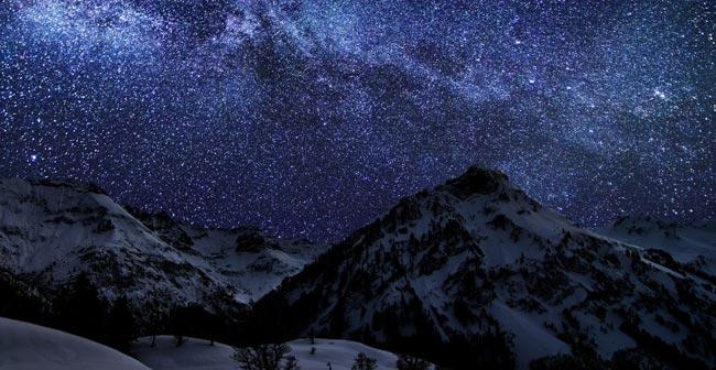 Starry Night New Moon Photograph